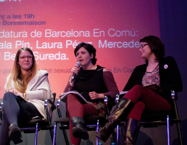 Janet Sanz Cid, Gala Pin and Mercedes Vidal Lago, photo by Cristina Mañas