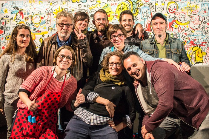Members of the Movement for the Graphic Liberation of Barcelona - Photo Marc Lozano